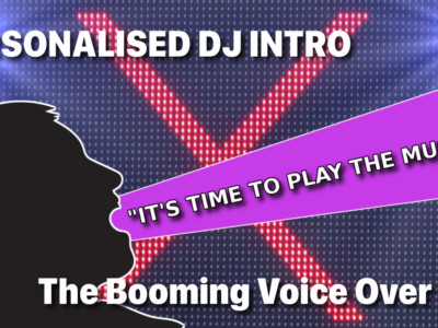 Personalised DJ Intro – The Booming Voice Over Guy