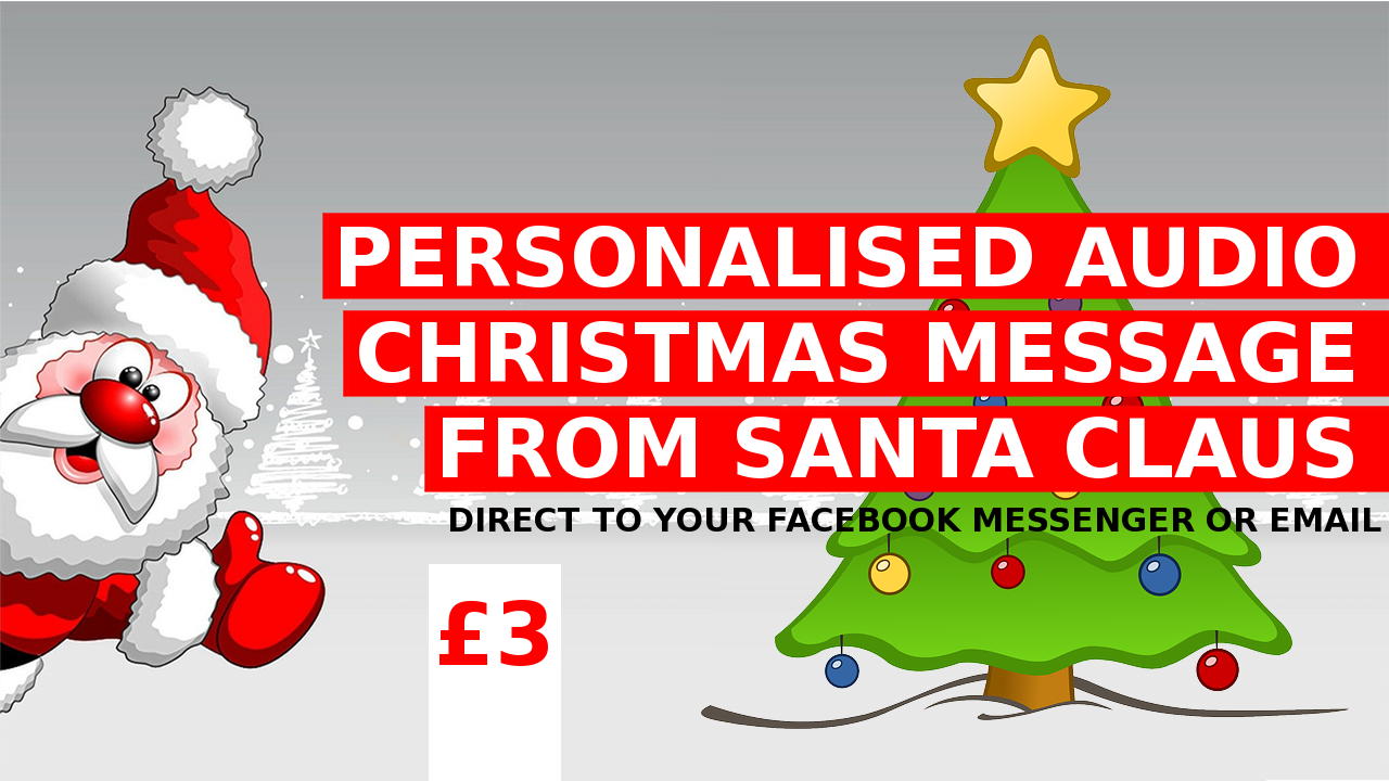 Personalised Audio Christmas Message from Santa Claus